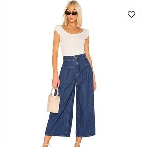 NWT Free People La Bomba Wide Leg Jean, 26
